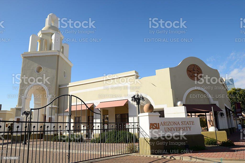 Campus of Arizona State University in Phoenix stock photo
