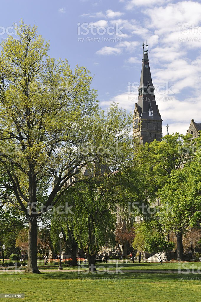 Campus of Georgetown University stock photo