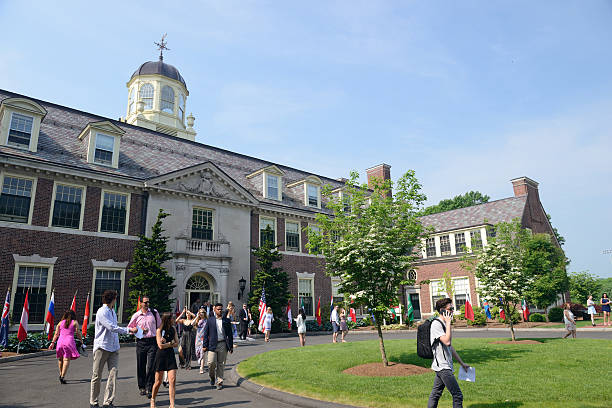 campus of loomis chaffee school - private school stock photos and pictures
