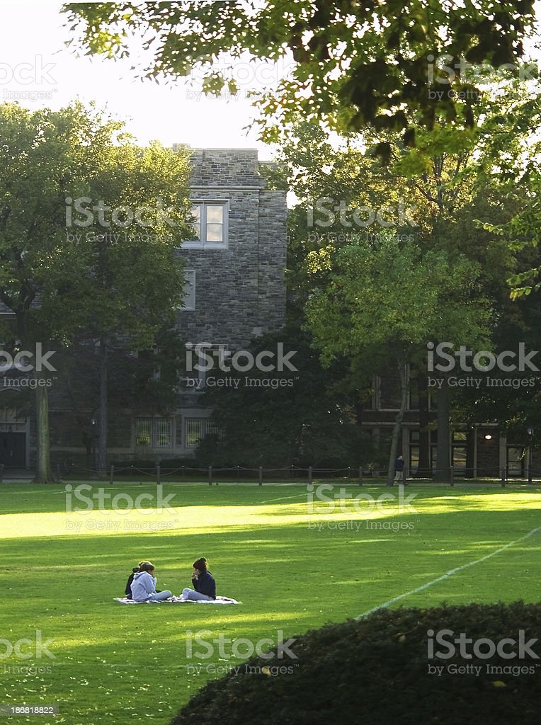campus picnic royalty-free stock photo