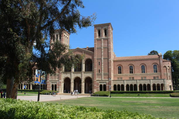 UCLA Campus Los Angeles, California - July 23, 2017: Royce Hall on the campus of The University of California, Los Angeles (UCLA). royce hall stock pictures, royalty-free photos & images