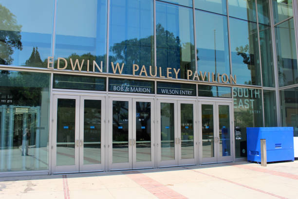 UCLA Campus Los Angeles, California - July 23, 2017: Edwin W. Pauley Pavilion on the campus of The University of California, Los Angeles (UCLA). ucla stock pictures, royalty-free photos & images