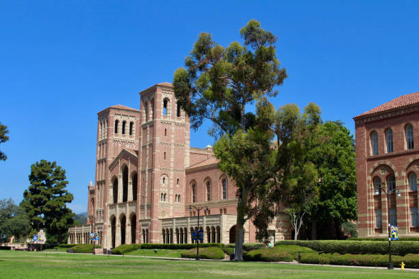 UCLA Campus Los Angeles, California - July 23, 2017: Royce Hall on the campus of The University of California, Los Angeles (UCLA). ucla stock pictures, royalty-free photos & images