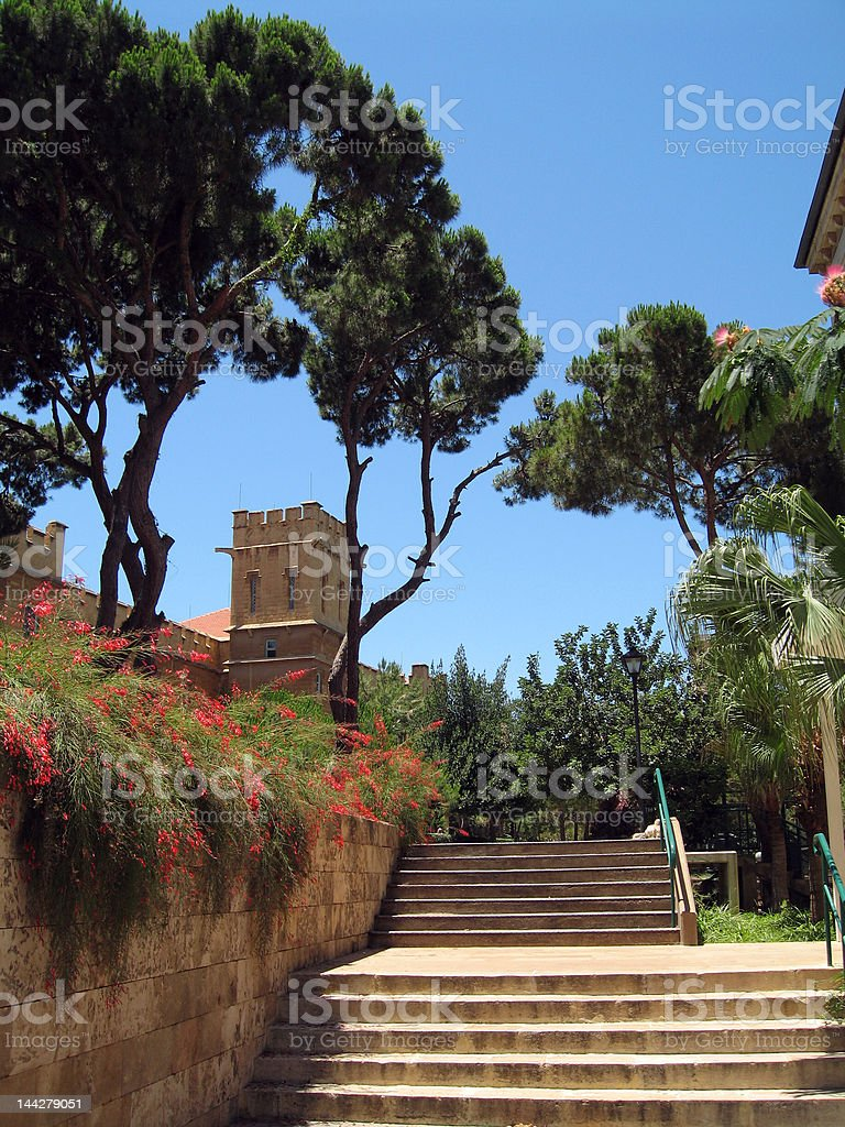AUB campus stock photo