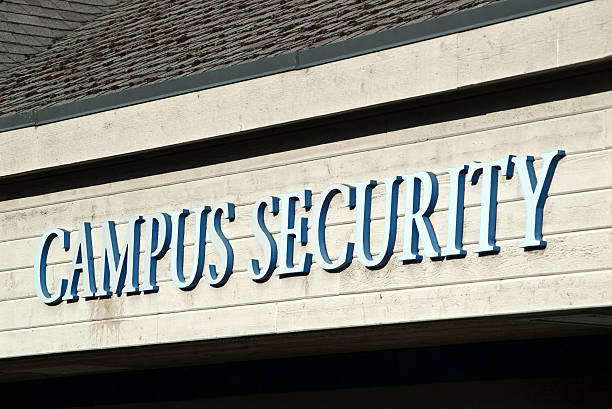 Campus Security Sign stock photo