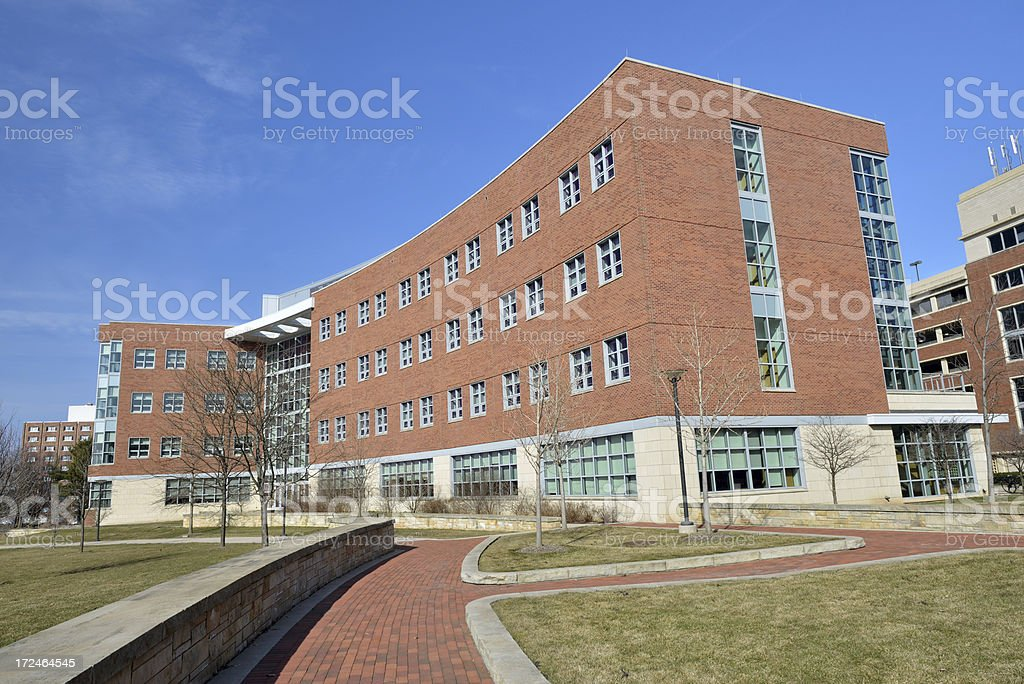 Campus View of Penn State University stock photo