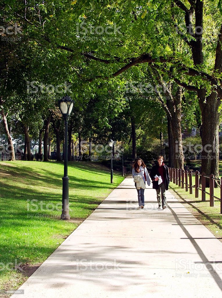 campus walk royalty-free stock photo