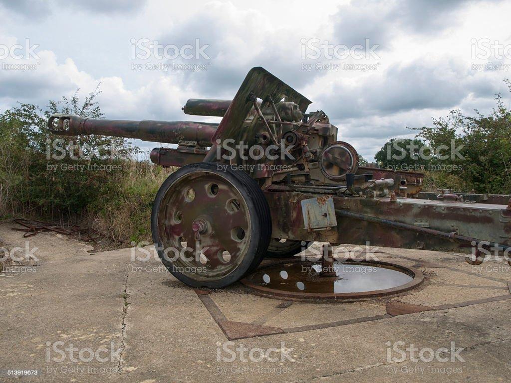 Cañón alemán de la Segunda Guerra Mundial stock photo