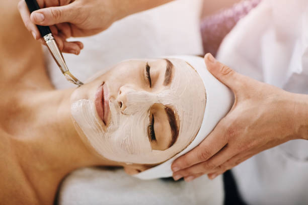 i can already feel it tingling - chemical peel stock pictures, royalty-free photos & images