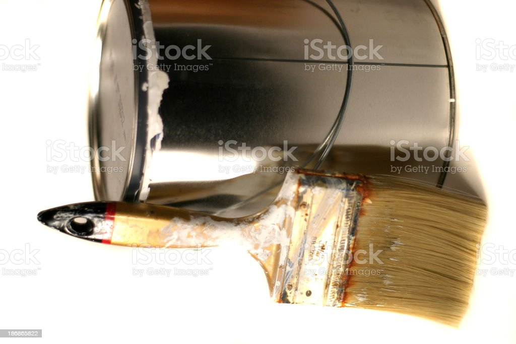 Can and brush royalty-free stock photo