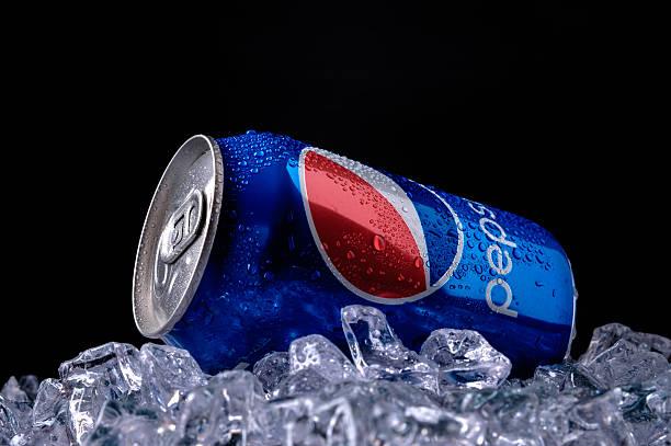 Cтоковое фото Можно из Пепси кола стекла и