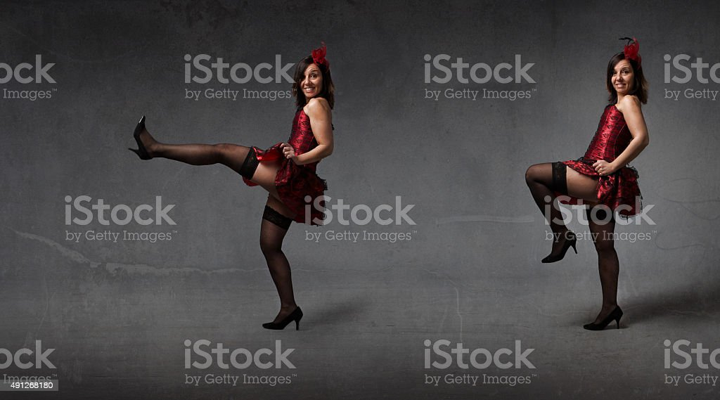 can can dance for a burlesque performer stock photo