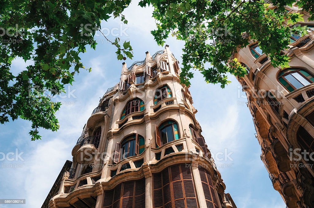 Can Casasayas art nouveau building in Palma de Mallorca stock photo