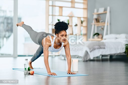 istock I can do yoga whenever and wherever I want! 1057839322