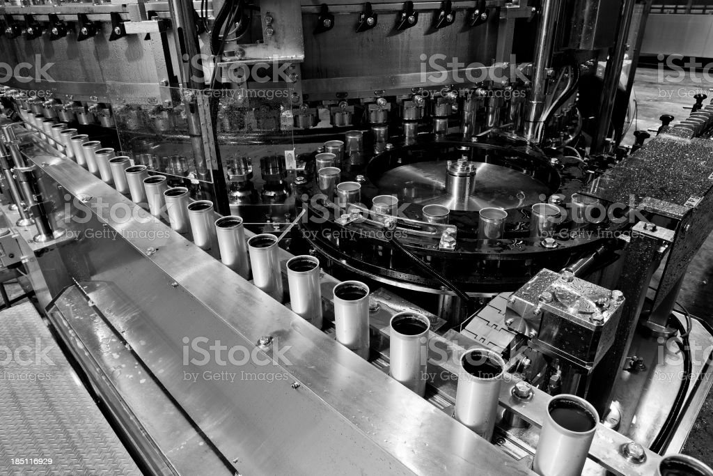 Can drinks production royalty-free stock photo