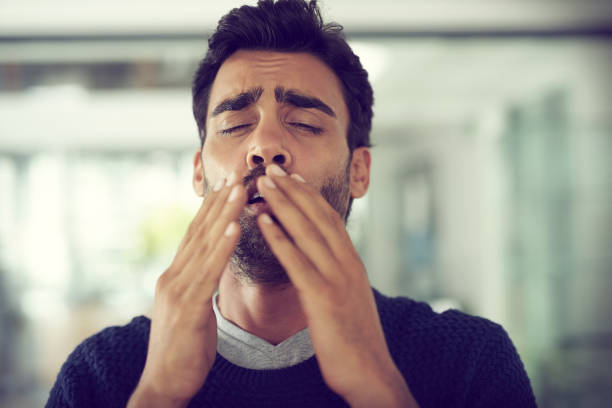I can feel a sneeze coming on stock photo