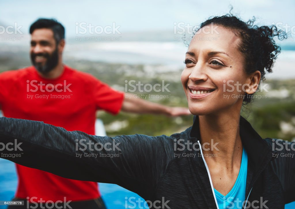 I can feel the oxygen flowing through me stock photo