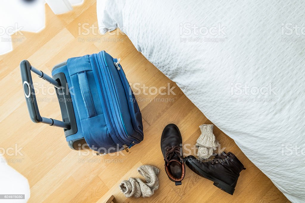I can finally take off my boots. stock photo