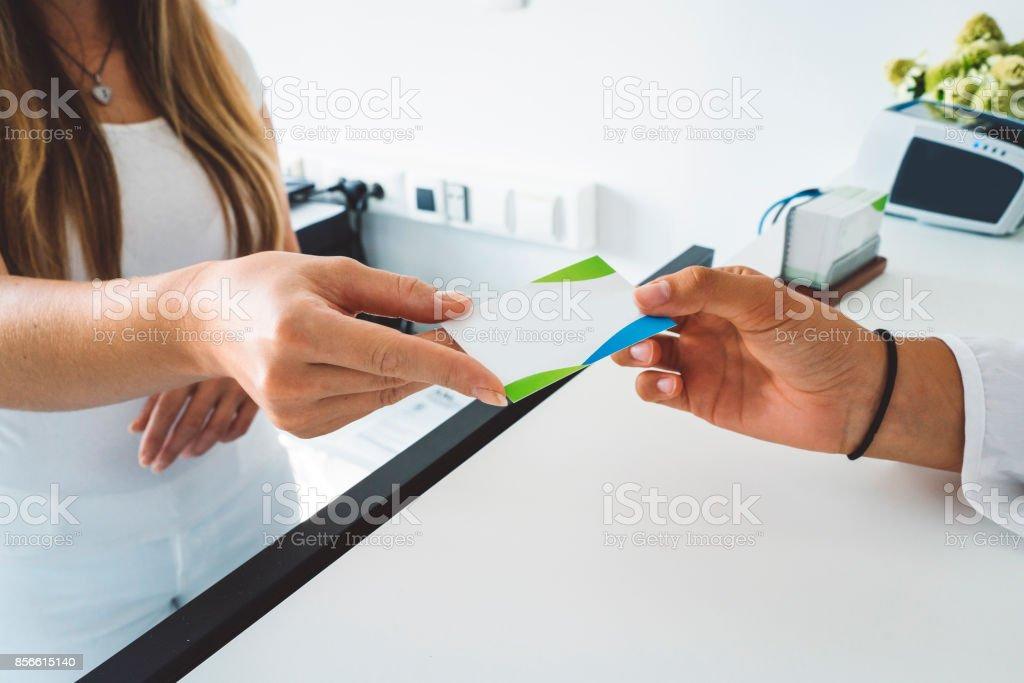 Ich kann Ihnen unsere Visitenkarte – Foto