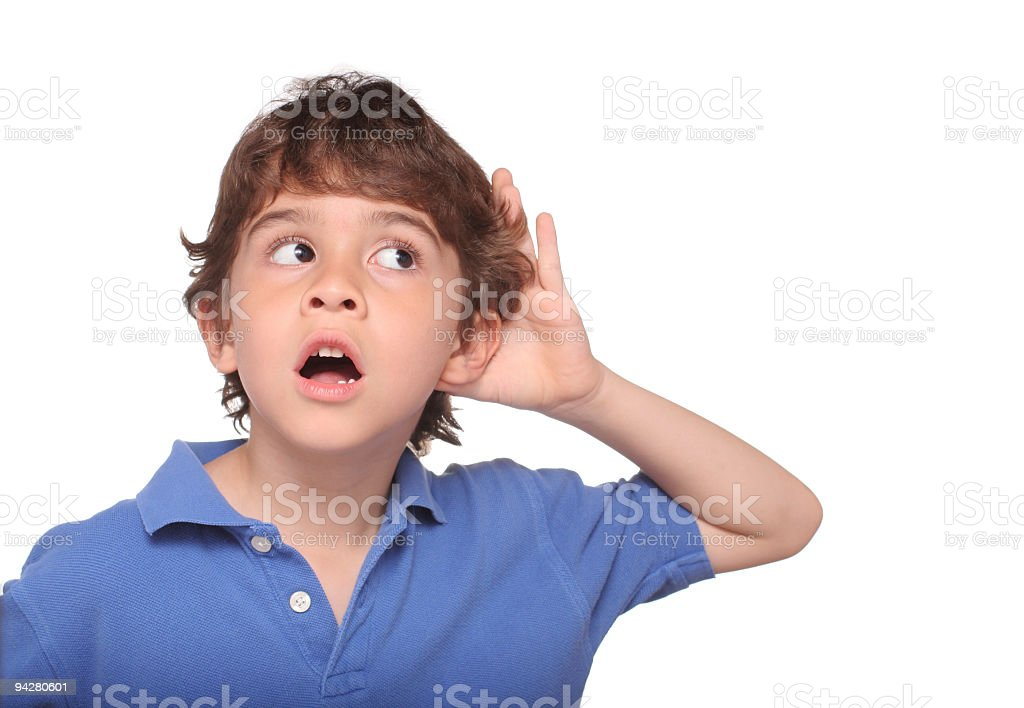 I can hear something stock photo