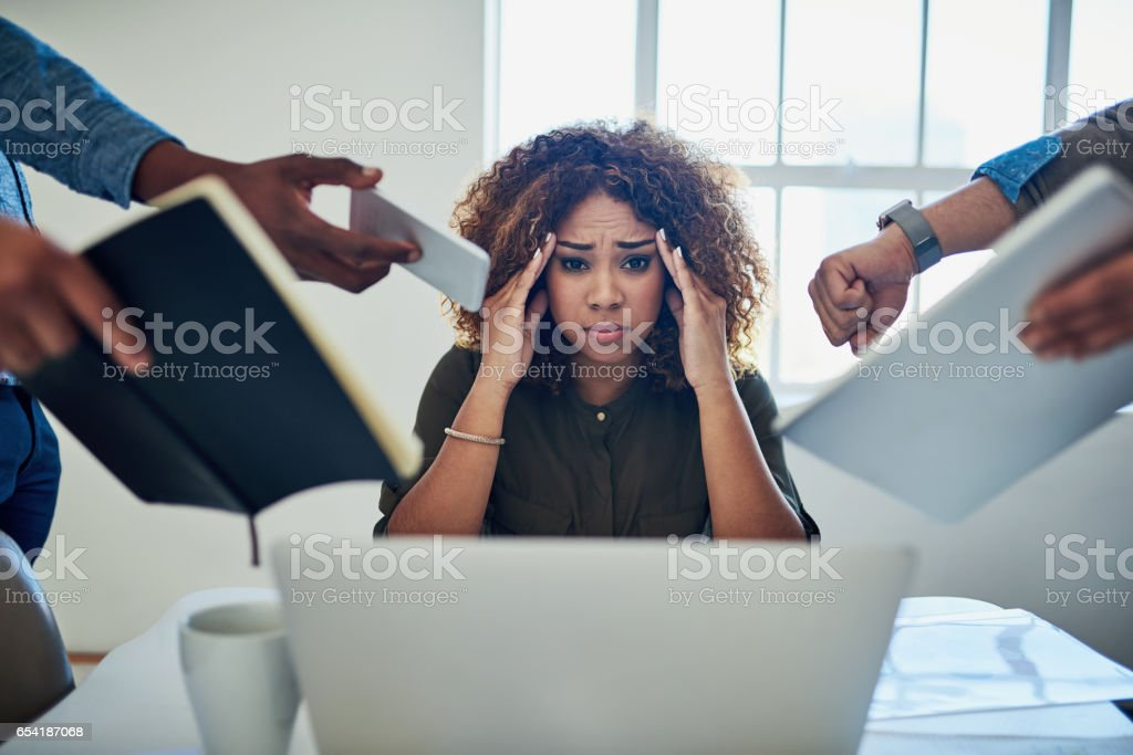 Can I get a moment to breathe? stock photo