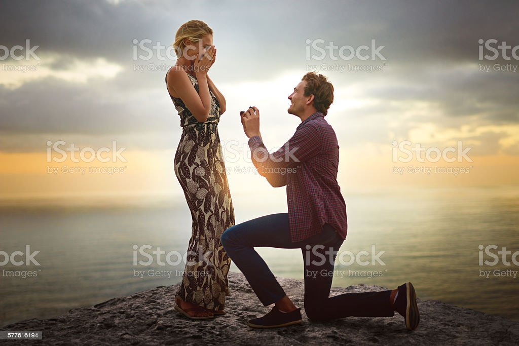Can I have the honor of loving you forever? stock photo