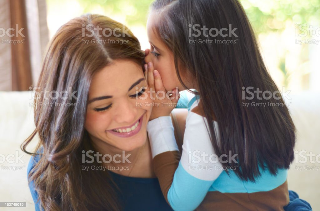 Can I tell you a secret? stock photo