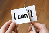 I can motivation concept - Changing I can't into I can