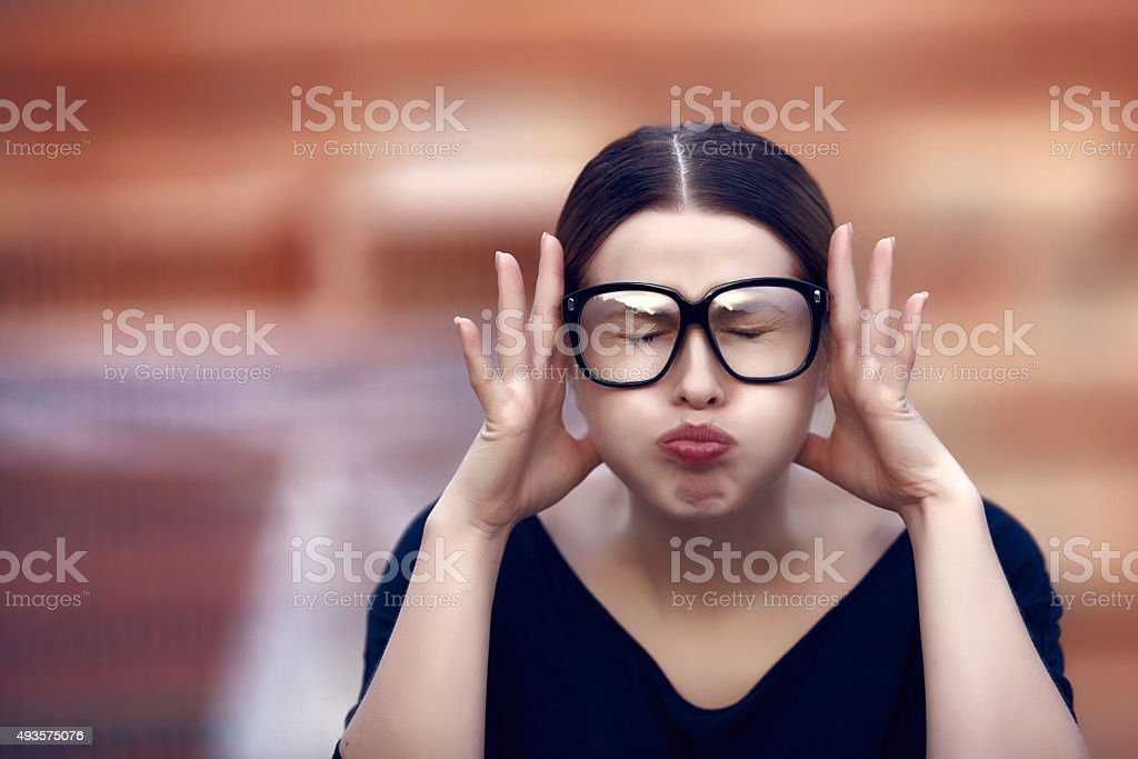 I can not take it anymore stock photo