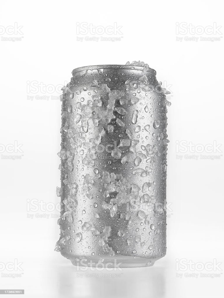 Can Of Beer covered in Ice stock photo
