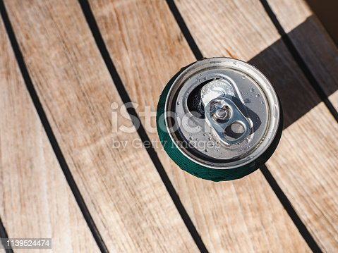 istock Can of beer on a beautiful background 1139524474