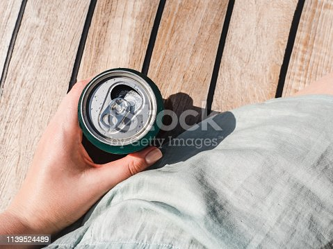 istock Can of beer on a beautiful background 1139524489