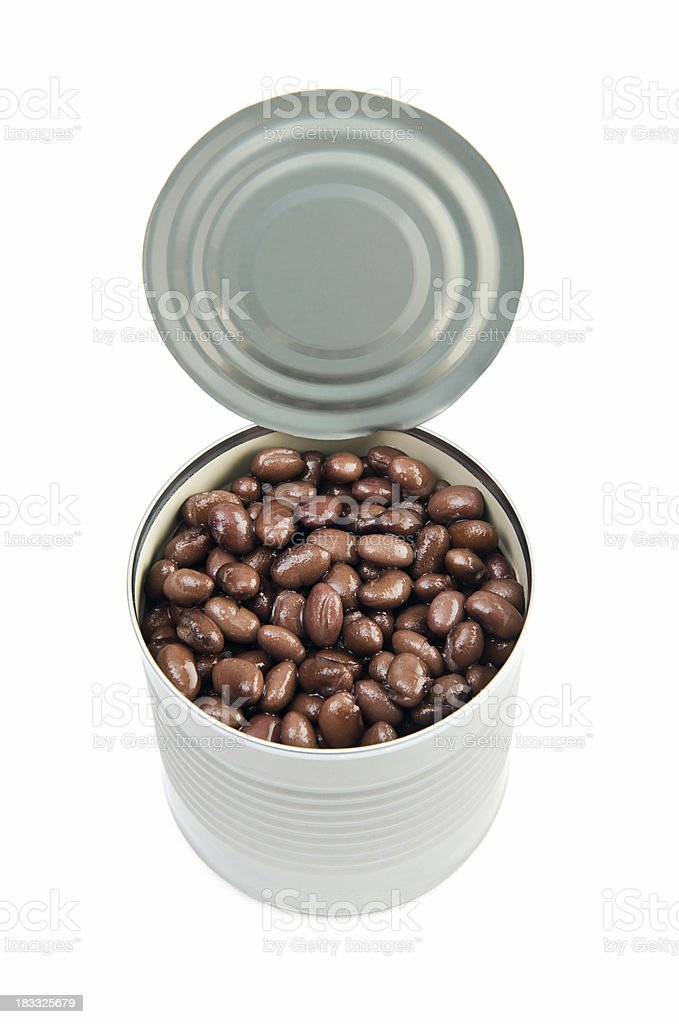 Can of black beans royalty-free stock photo