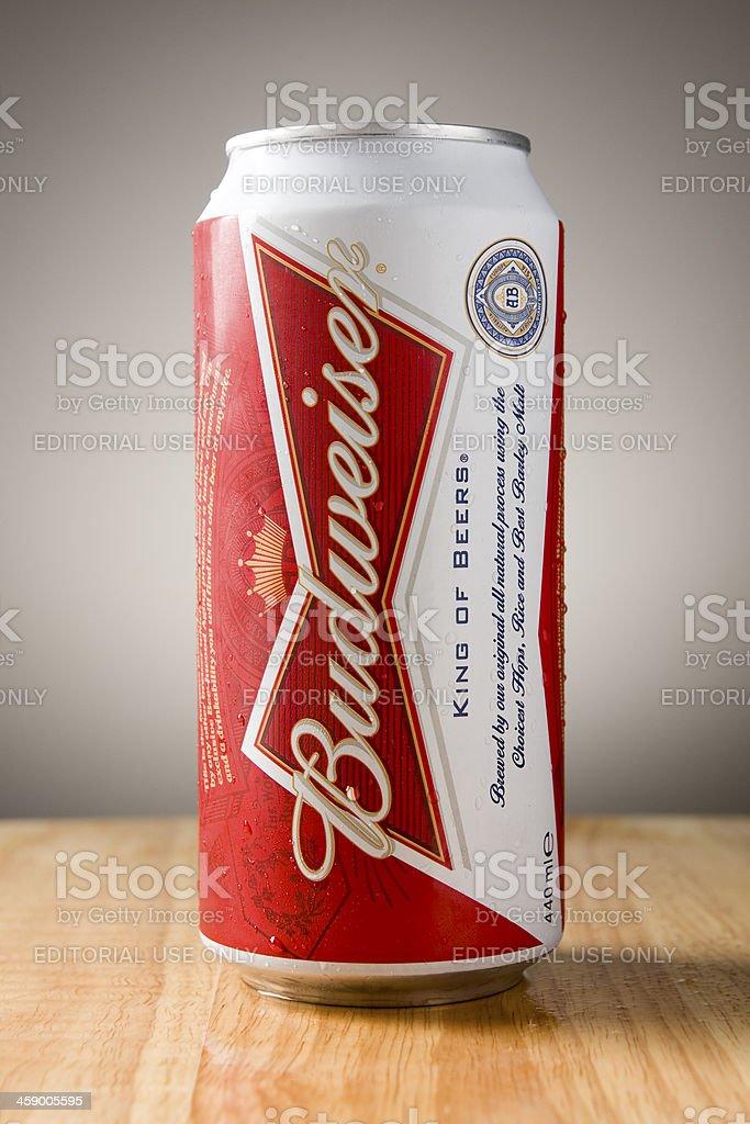 Puede de Budweiser - foto de stock