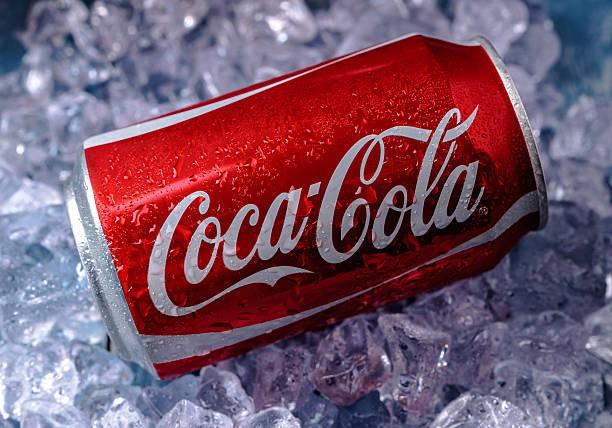 Cтоковое фото Можно из Coca-Cola на льду