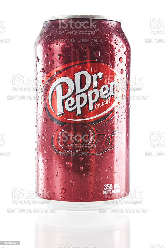 Can of Dr Pepper stock photo