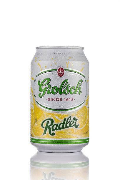 Can of Grolsch Radler stock photo
