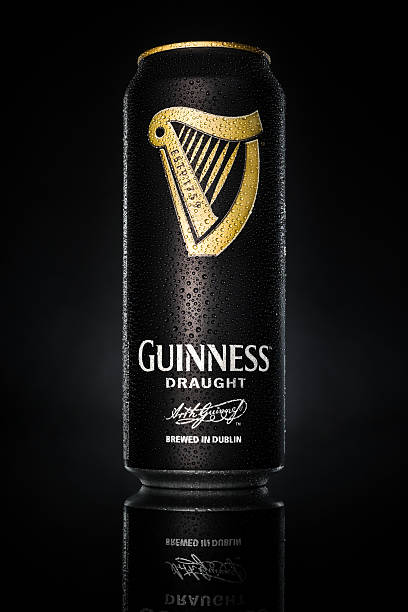 Can of Guinness draught stock photo