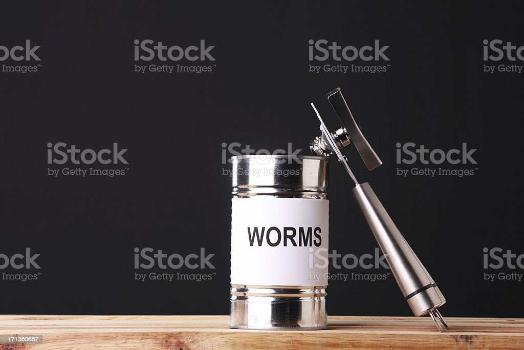 Can of Worms - foto de stock