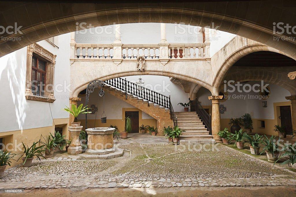 Ca'n Oleza Courtyard Palma stock photo