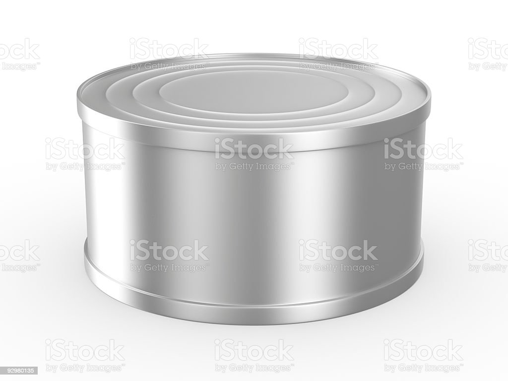Can on white background. Isolated 3D image royalty-free stock photo