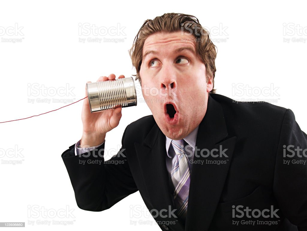 Can Phone Businessman royalty-free stock photo