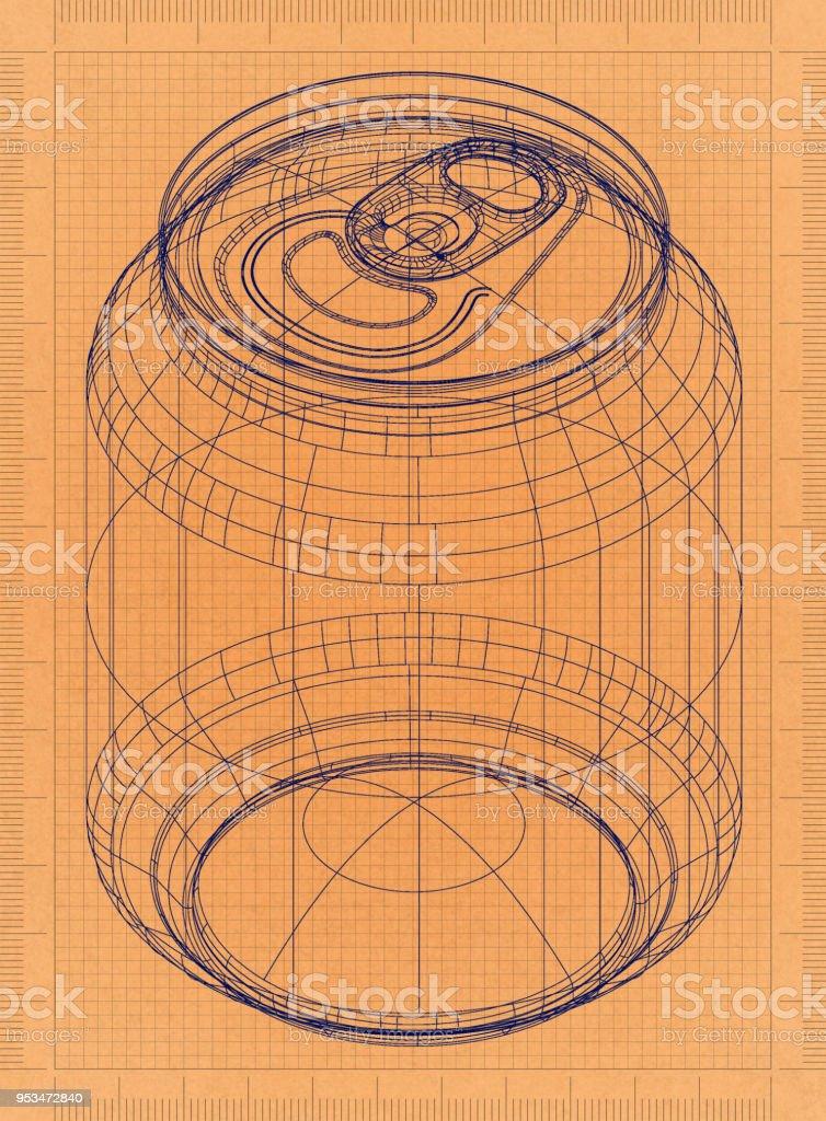 Dose - Retro-Blueprint – Foto