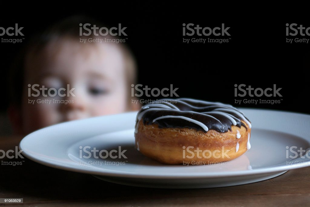 I can see the donut! royalty-free stock photo