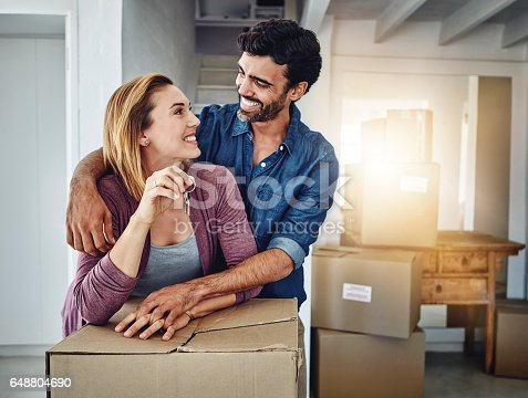 istock Can you believe this place is finally ours? 648804690