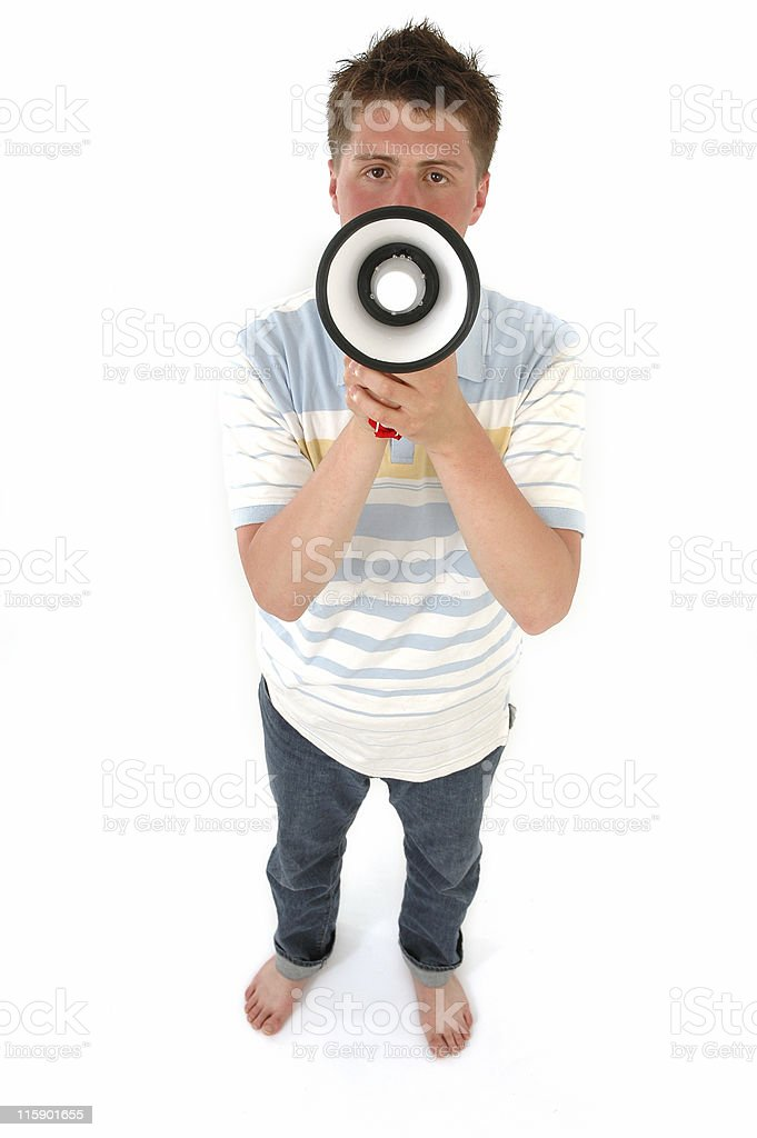 can you hear me? stock photo