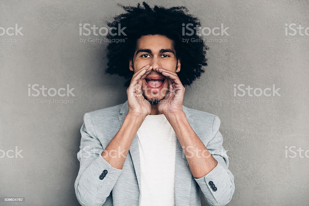 Can you here me now? stock photo