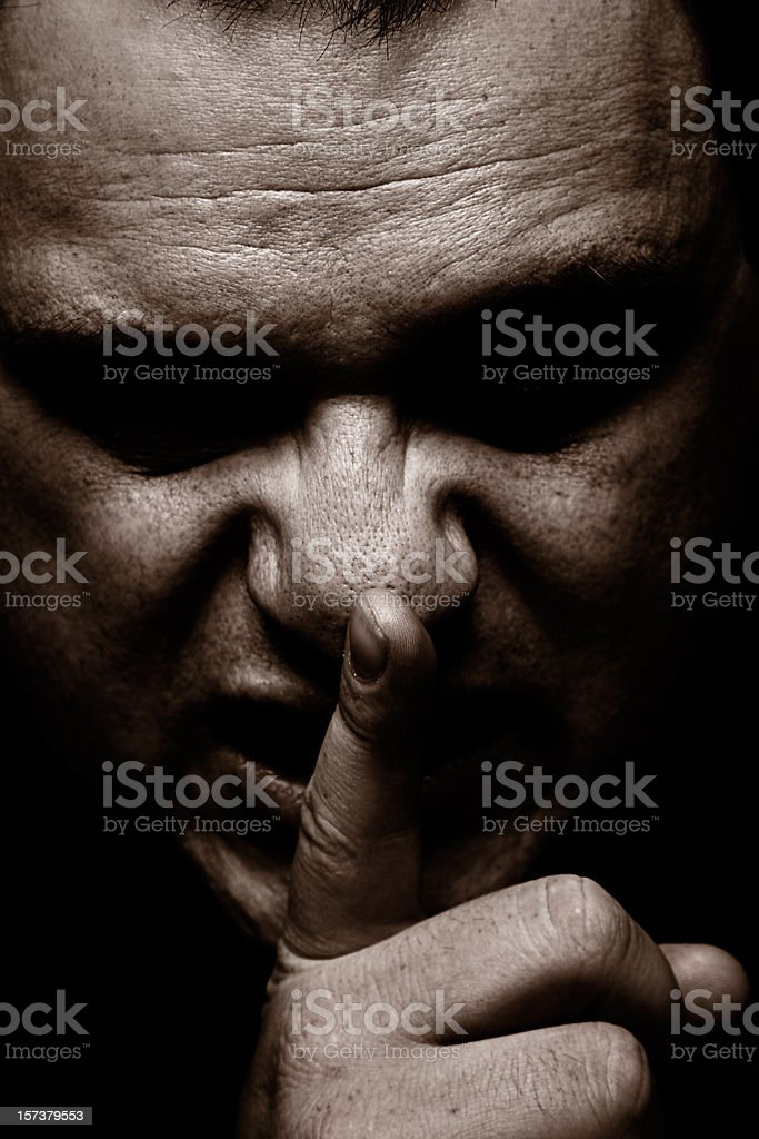Can You Keep A Secret? stock photo