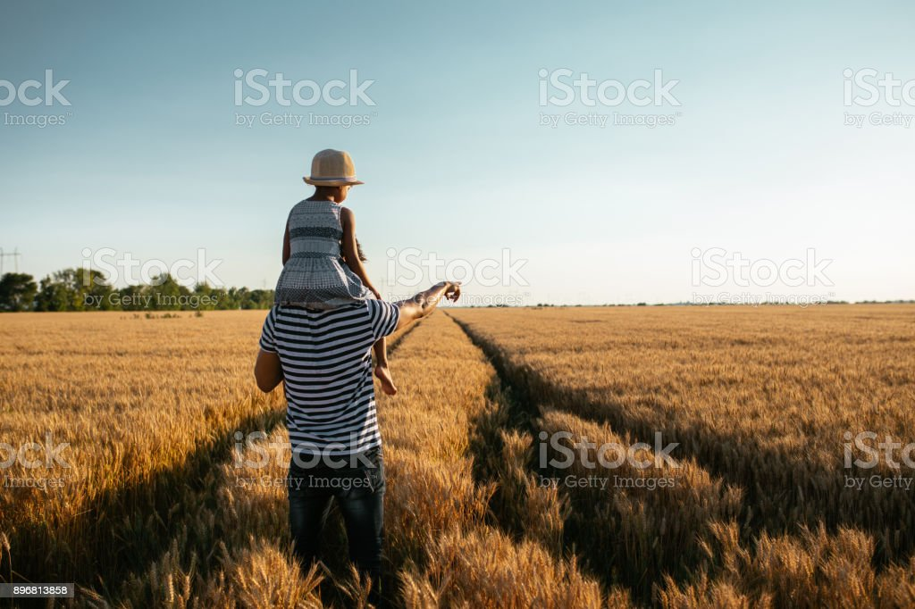 Can you see big bird over there ? stock photo