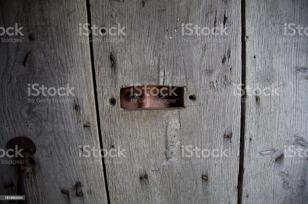 Can you see me? stock photo